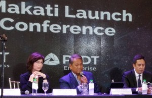 File photo (from left) shows ePLDT COO Nerisse Ramos, ePLDT CEO Eric Alberto, and PLDT Enterprise head Jovy Hernandez