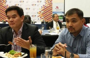 File photo of CCAP officials Benedict Hernandez (left) and  Jojo Uligan