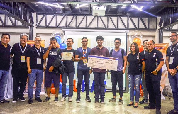 The winning team from the University of San Carlos