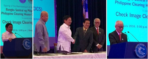 BSP governor Amado Tetangco shaking hands with officials of the PCHC. Photo credit: pchc.com.ph