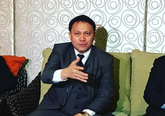 Newly appointed CICC executive director Allan Cabanlong gestures during a recent press event