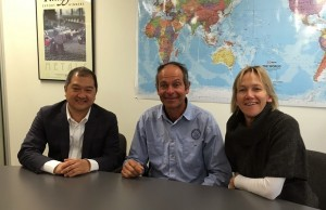 Photo shows (from left to right) DTI-Philippine Investment Center in Sydney Commercial Consul Kenneth Yap and owners of Sydney Harbor Tall Ships Marty and Lisa Woods