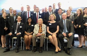 95-year-old business icon Washington Z. Sycip, who is chairman of Lufthansa Technik Philippines (center, seated) is pictured with other executives of the Lufthansa Group