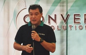 "Converge ICT chief operating officer Jesus ""Boboy"" Romero"