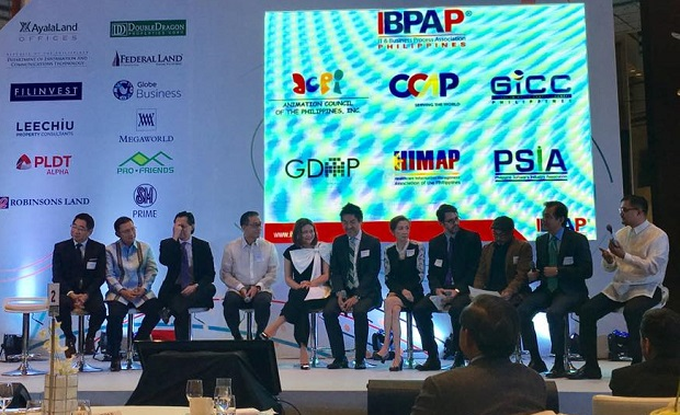 Major players of the local outsourcing industry unveiling Roadmap 2022 at the Marriott Grand Ballroom in Pasay City on Oct. 27. Photo credit: Jormari Mercado