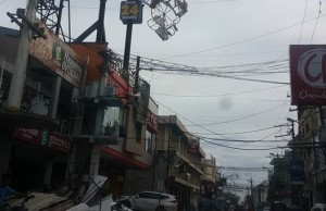 The main commercial district of Tuguegarao City in Cagayan was heavily damaged. Photo credit: Candy Torres