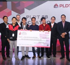 Team Pentagon from Cavite State University gets the top prize worth P100,000