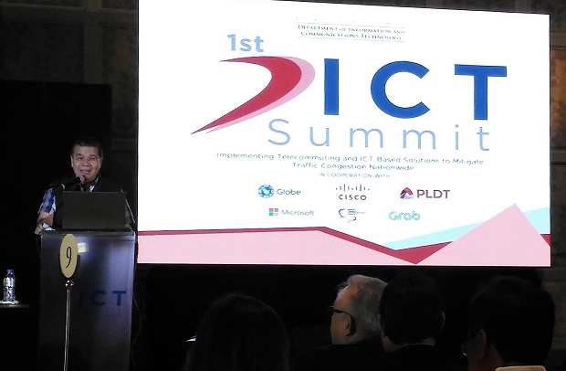 DICT secretary Rodolfo A. Salalima at the 1st DICT Summit in Makati City on Tuesday, Nov. 8