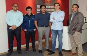 Photo shows (L-R) Rahul Shinghal, general manager for Southeast Asia, PayPal; Edmon Joson, head of product at PayMaya; Abhinav Kumar, head of strategic partnerships for Southeast Asia, PayPal; Paolo Azzola, co-COO and managing director at PayMaya; Benjie Fernandez, co-COO at PayMaya, and COO at Voyager Innovations
