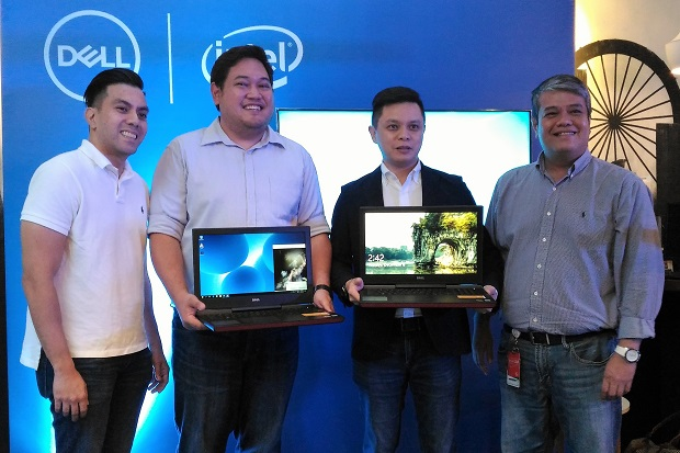 Photo shows (from left) Dell PH executives Don Navarro, Alvin Habana, Chris Papa, and Jay Ranola during the launch event in Makati City