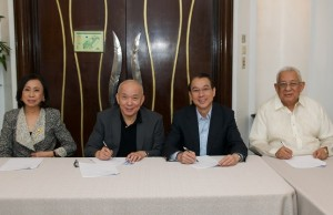 Photo shows (from left): Grace Tan Caktiong, president of Jollibee Group Foundation; Eusebio H. Tanco, chairman of STI Education Services Group; Tony Tan Caktiong, chairman and founder of Jollibee Foods Corporation; and Monico V. Jacob,  vice chairman and CEO of STI