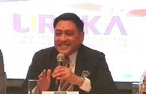 Union Bank EVP and head of the center for strategic partnerships Genaro V. Lapez discussing Ureka Forum and its objective of ushering in MSMEs to the digital age