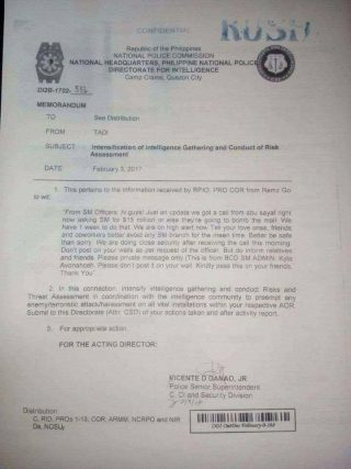 This document that is being shared online has been declared as a hoax by authorities