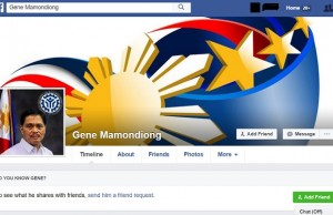 "The fake ""Gene Mamondiong"" account in Facebook"