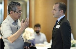 Monchito Ibrahim of the DICT on a discussion with Itamar Gero of ICCP. Photo credit: ICCP