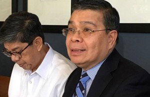 DICT secretary Rodolfo Salalima (right) with undersecretary Jorge Sarmiento
