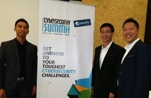 Palo Alto Networks execs (from right) Kevin Chin, country manager for the Philippines, Indonesia, and Vietnam; Vincent Oh, regional systems engineering director for Asean; and Marc Lainez, solutions architect for the Philippines