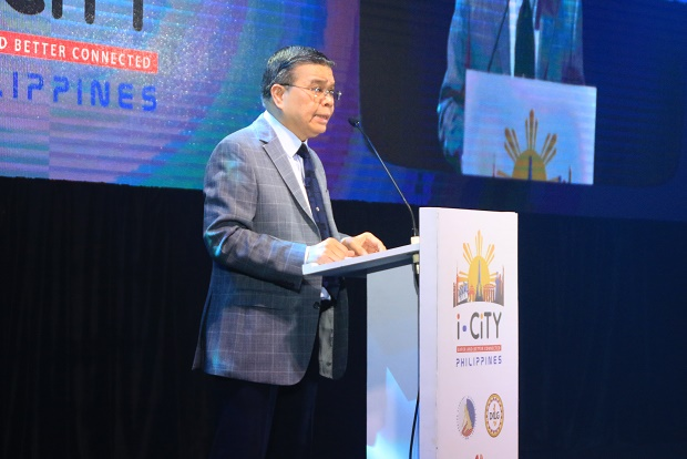 DICT secretary Rodolfo Salalima during the i-CiTY Summit at the Edsa Shangri-la Hotel