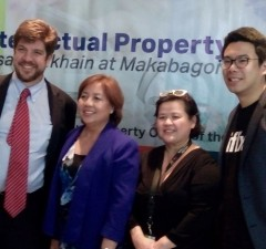 Photo shows (from left) US Embassy economic officer Brian Breuhaus, IPOPHIL director-general Josephine Santiago, PARI chairman Marivic  Benedicto, and iflix country manager Sherwin dela Cruz during the World IP Day Press Briefing at Sala Bistro in Makati City