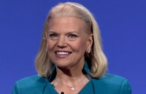 IBM chairman and CEO Ginni Rometty shares her vision for the cloud during the IBM InterConnect conference in Las Vegas, Nevada