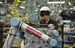 UR's robot arms in use at Nissan's Yokohama factory