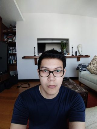 A selfie using the 8-megapixel wide-angle camera