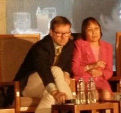 Dr. Rodney Croft (left) with DOH assistant secretary Agnette Peralta during the recent PH Telecom Summit