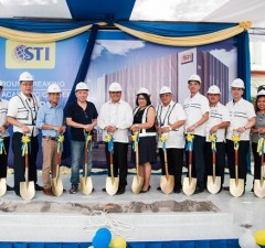 Photo shows STI officials and partners during the groundbreaking ceremonies