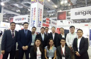 Representatives from the nine IT company exhibitors at the Philippine Pavilion
