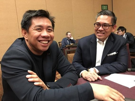 UnionBank chief technology and transformation officer Henry R. Aguda (left) and Questronix president Michael S. Dionisio at the IBM InterConnect 2017 conference in Las Vegas. Questronix is IBM?s local partner which implemented the Bluemix cloud platform at UnionBank