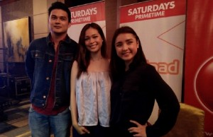"""Destined"" – the pilot episode of  TV5's relaunched ""Wattpad Presents"" – stars (from left) Ben Isaac, independent film actress Kate Alejandrino, and former stage performer Sarah Carlos, in a love triangle directed by James Habac  Jr."