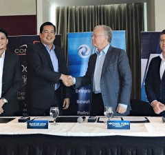 Photo (from left to right) IPC director for marketing and digital innovation Niño Valmonte, IPC COO Dave de Leon, Continent 8 Technologies CEO Michael Tobin, and CDO Nick Nally