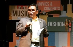 The late Benjie Fernandez speaking during one of PayMaya's press events