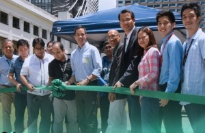 DLSU and PCIERRD officials are shown during the launch