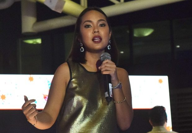 Shopee Philippines head of commercial business Macy Castillo speaks during Shopee's 2nd year celebration at the Ibiza Beach Club in Taguig City