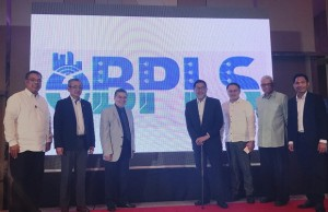 DICT secretary Rodolfo Salalima (3rd from left) leads the re-launch of the ePBLS or Electronic Business Permits and Licensing System.
