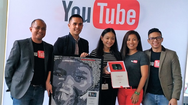 "Representatives from Globe Telecom received recognition for having the highest hits on YouTube with ""Rogue One: A Star Wars Story"""