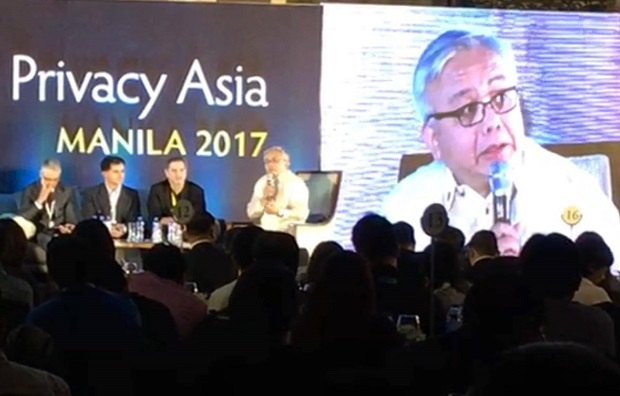 NPC chair Raymond Liboro speaking during the recent Data Privacy Asia conference