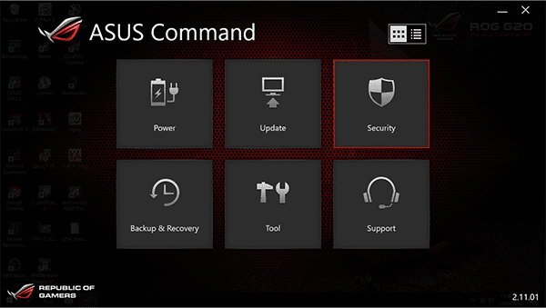 Asus command web