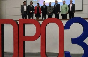 Executives of the National Privacy Commission and data protection officers pose for a photo during an assembly.
