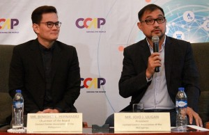 CCAP chair Benedict Hernandez (left) and CCAP president Jojo Uligan