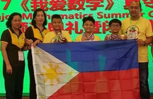 Miguel Isidro Cayetano (3rd from right) is seen with the PH contingent. Photo credit: Cagayan Now Facebook page