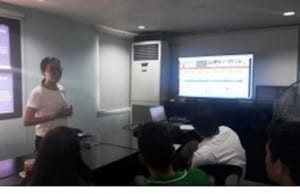 Members of the Cebu People's Multi-Purpose cooperative attend an orientation on how to use STARBOOKS.