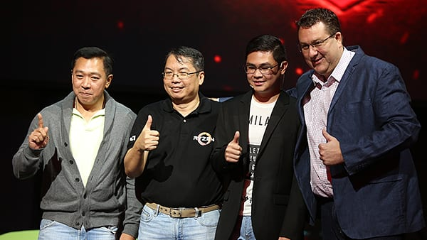 From L-R: Raymond Delos Reyes (Acer Philippines Senior Consumer Sales Manager), Glenn Serrano (AMD Philippines National Consumer Sales Manager), Jasper Ong (Products Lead for Acer Philippines), Peter Chambers (AMD Director of Sales for APJ)