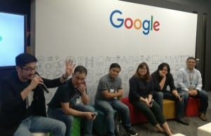 Photo shows Pinoy developers during a Google developers forum at the Google head office in Taguig City