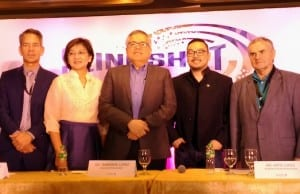 DTI secretary Ramon Lopez (center) poses for a photo with delegates of the 2017 Slingshot ASEAN: Startup and Innovation Summit. From right to left are angel investor John Aston of the United States; Artie Lopez, Brainsparks co-founder and startup coach; Trade Undersecretary Nora K. Terrado; and Raineir Seider, head of Unit on Foreign Trade, European Economic Policy and Development Corporation, Ministry for Economics, Energy and Public Enterprises of Germany