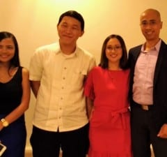 Shore Suite founders (R-L) Alistair Israel (CEO); Mrs. Ina Israel (COO); Jules Telan (CTO); and business development executive Izza Belle Angeles have launched their software solution for hotels and resorts. (EKU)