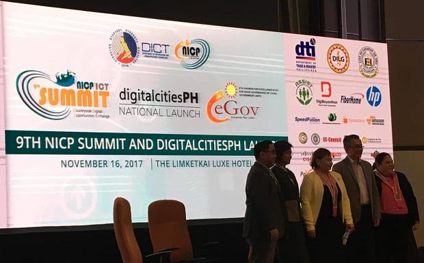 The 9th NICP ICT Summit in Cagayan de Oro City served as a venue for the 2017 eGov Awards and the launch of the DigitalCitiesPH initiative of the DICT
