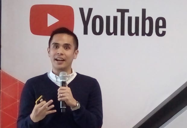 Google Philippines country marketing manager Gabby Roxas discusses the impact of great storytelling at the launch of  the YouTube Ads Awards in the Philippines
