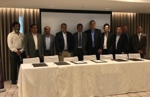 LBC Express, Ramco officials during the signing of the software upgrade agreement. (RRR)